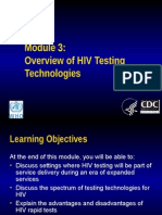 Module3 Overview of HIVtestingtechnologies