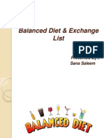 Balanced Diet & Exchange List