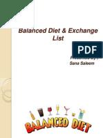Balanced Diet & Exchange List