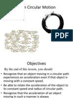 Lesson 12 (Circular Motion)