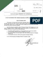 Senate Bill No 2390 - An Act Extending the Term of Barangay Officials (Filed by Senator TG Guingona)