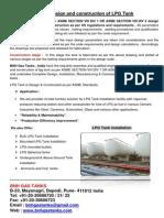 ASME Design and Construction of Lpg Storage Tank Installation