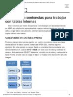 Ejemplos de Sentencias Para Trabajar Con Tablas Internas