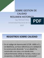 Resumen Historico de La Calidad 2013