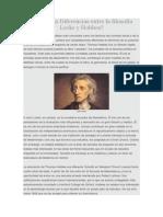 Diferencias Entre La Filosofía Locke y Hobbes