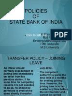 Policies of Sbi