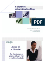 Blogging in Libraries