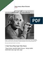 10 Nasehat Bijak Sang Jenius Albert Einstein