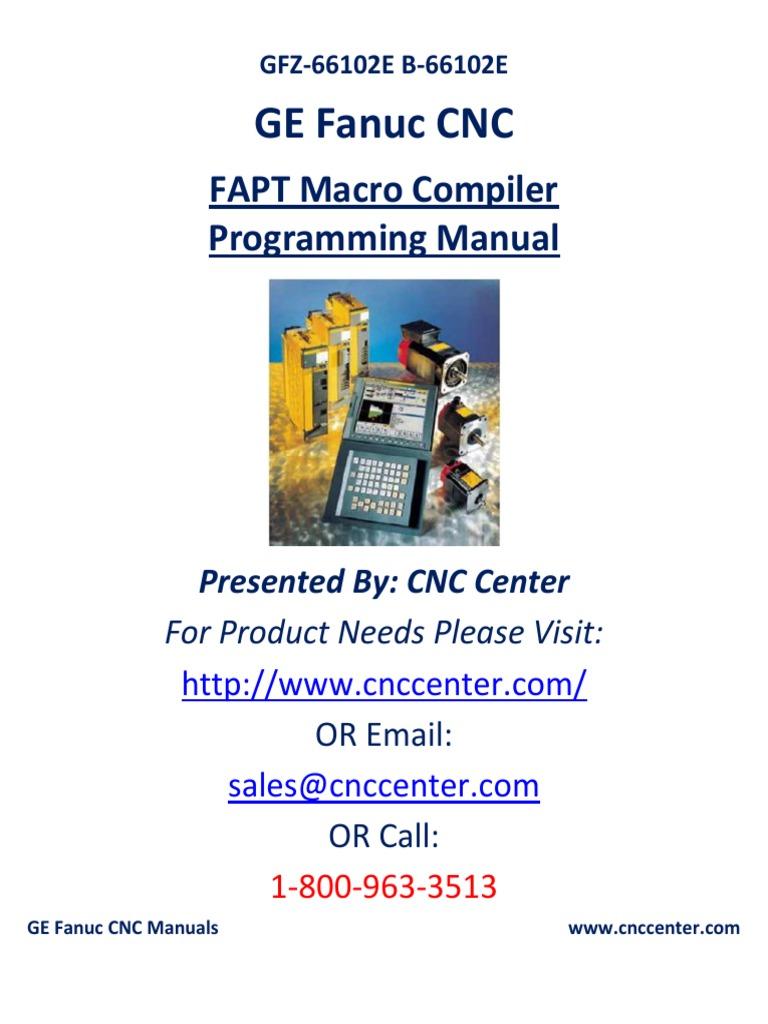 fanuc pc fapt parameter computer programming macro computer rh scribd com Fanuc Programming Training Fanuc Programming Training