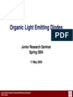Lecture 7 -- Organic Light Emitting Diodes