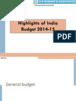 India Budget Highlights_D N Sharma & Associates_FY14-15