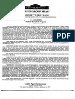 Rossiyskiy Kredit Bank Notes Prospectus
