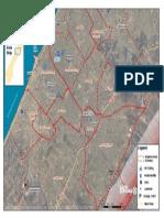 Gaza City satellite map
