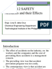 CHEA 512 Accidents and Effects SAFETY