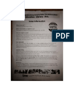CMS Sales Tax and Voting Flyers