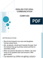 English for Oral Communication Oumh1303 p.p