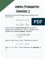 The Complex Propagation Constant
