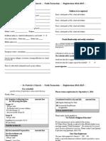 registration form 2014-2015