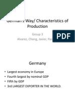 Germany's Characteristics of Production