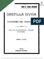 Cartilla Civica o Catecismo Del Ciudadano 1926