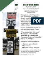 Sick of Signs Flier