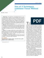 3 Tecnicas de Aumento Encia Queratinizada Sin Cubrimiento. Harris. Jp 2001
