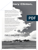 Open Letter from Fuels America to Secretary Clinton, Sept. 13, 2014