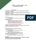 Exemplo Invariante Laço 2014