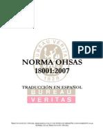 Ohsas 18001 2007 Español