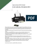 Solución a Problema Impresora Epson L200 No Enciende