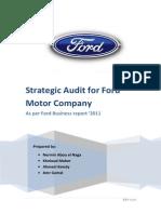 Strategic Audit for Ford Motor Company - V1.2