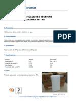 ESPECIFICACIONES TÉCNICAS PARAFINA 58º - 60°