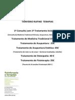 Tarifário Rufino Terapias