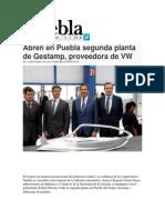 09-09-2014 Puebla on Line - Abren en Puebla segunda planta de Gestamp, proveedora de VW.