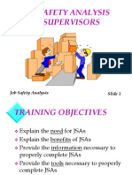 Job Safety Analysis for Supervisors