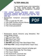 Filter Analog Ppt