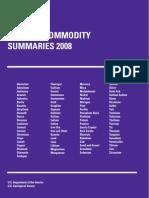 USGS Mineral Summary 2008
