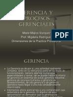 Gerencia y Procesos Gerenciales