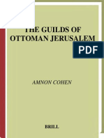 Amnon Cohen the Guilds of Ottoman Jerusalem