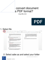 How to Convert Document in a PDF Format
