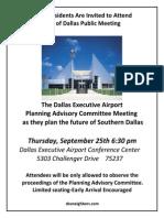 Dallas Executive Airport Pac Meeting Flier 2014