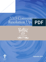 2013 Convention Resolution Report