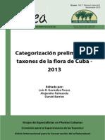 Categorizacion flora UICN Cuba