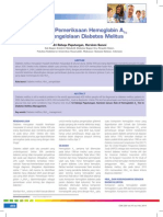Peranan Pemeriksaan Hemoglobin Pada Pengelolaan Diabetes Melitus