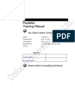 Payables - Training Manual