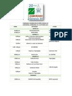Itinerario y Agenda 20 Años Genesis 94