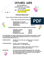 Ck Price Sheet