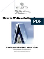 How to Write a College Paper From Villanova University