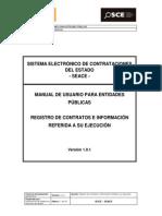 Manual de Usuario Para Entidades Publicas - Registro de Contrato e Informacion Referida a Su Ejecucion