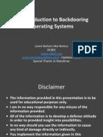 DEFCON 22 Lance Buttars Nemus Intro to Backdooring OS